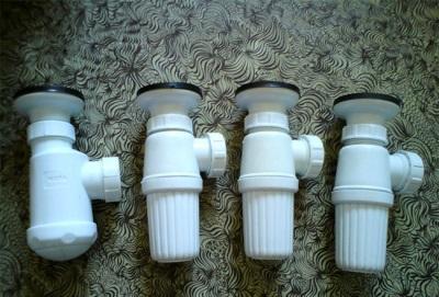 Бутылочные сифоны для раковин