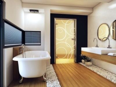 Дверь в ванну без порога