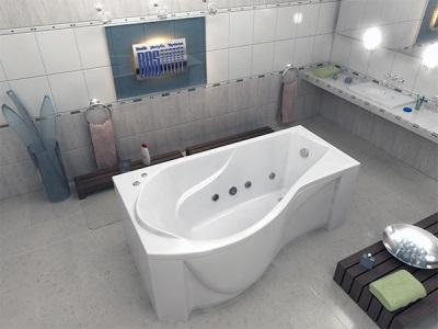 Ассиметричная ванна капри