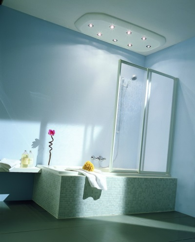 Двухсекционная раздвижная штора для ванны