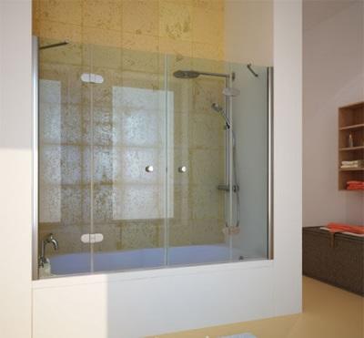 Шторки для ванны с распашными дверцами