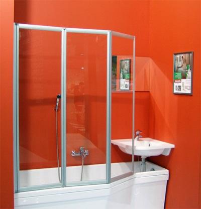 Шторка для ассиметричной ванны