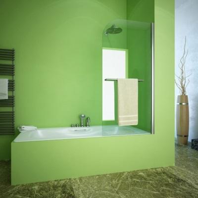 Одностворчатая шторка для ванной