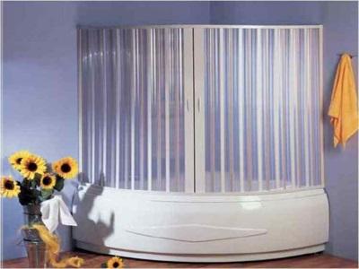 Раздвижные шторки для угловой ванны