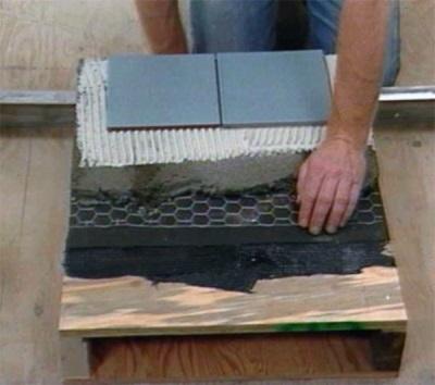 Необходимые слои между деревянным покрытие и плиткой