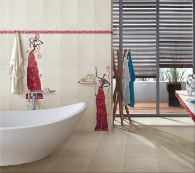 Декор в белой ванной