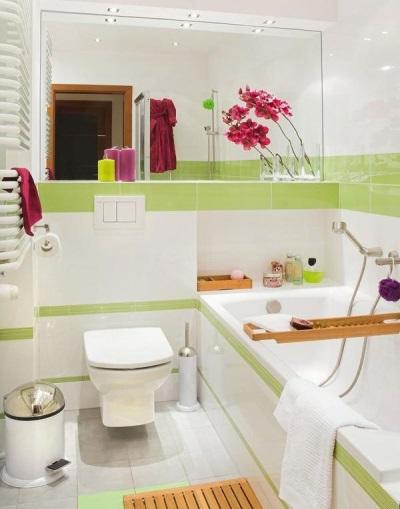 Декор для белой ванны