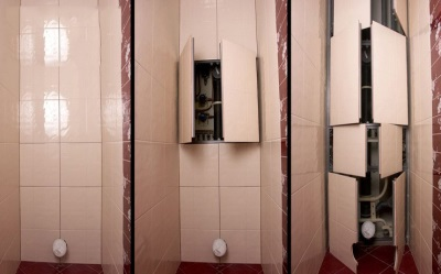 Как с прятать трубы с помощью шкаф пенала