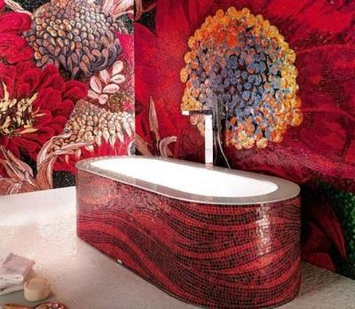 красная ванна Bathtub Sicis