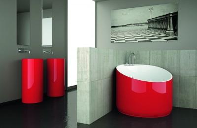 Красная мини ванна