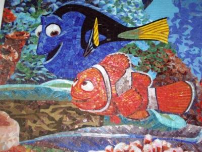 Мозаичное панно методом колки