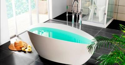 Ванна оригинальной овальной формы
