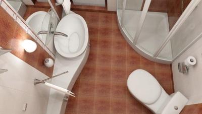Вариант перепланировки маленькой ванной