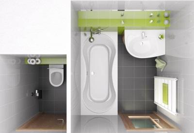 До перепланировки - ванная и туалет отдельно