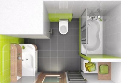 После перепланировки - совмещенная ванная и туалет