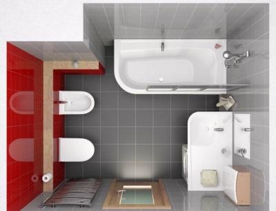 Ванная без перегородок