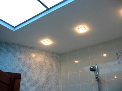 Потолочные светильники для потолка в ванной