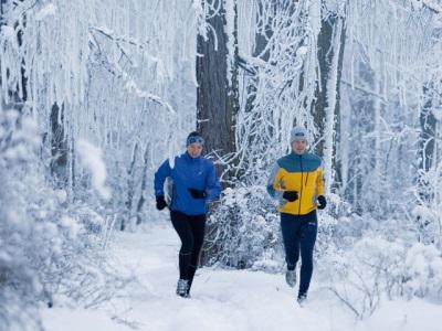 Пробежка по зимнему лесу