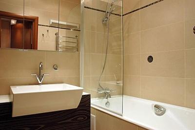 Вариант дизайна ванной комнаты в хрущевке