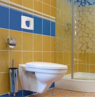 Подвесной унитаз для маленькой ванной комнаты