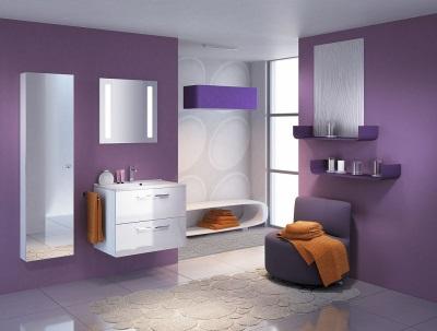 Сиреневая ванная - минимализм