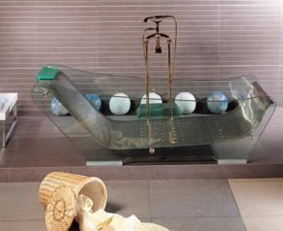 Пример стеклянной ванны