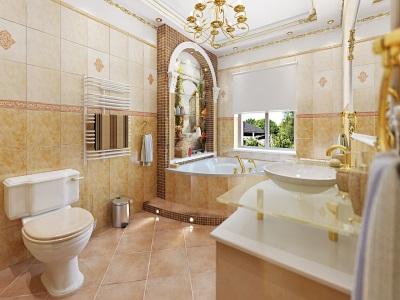 Итальянский стиль - ванная комната