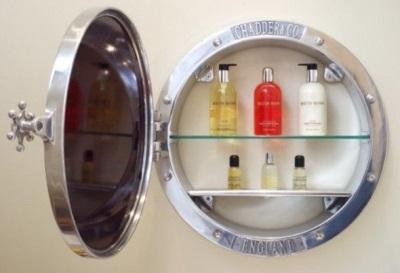 Аксессуары ванной - Зеркало с полочками внутри