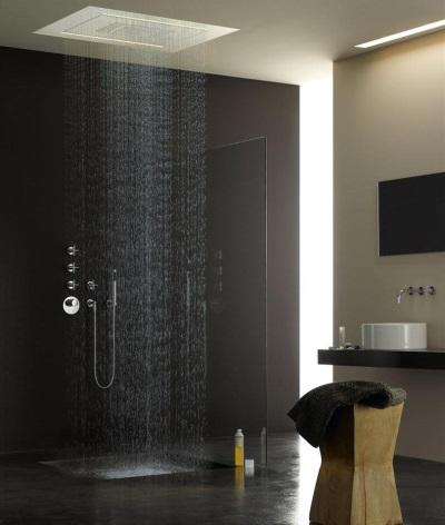 Тропический душ в интерьере