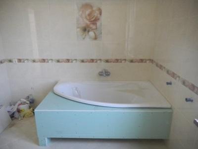Каркас ванной из гипсокартона