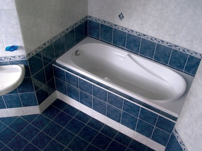 Готовый пол в ванной комнате