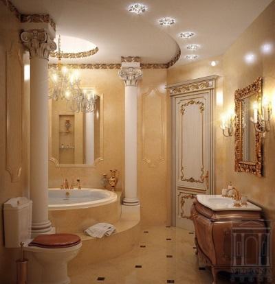 Классическое освещение в ванной