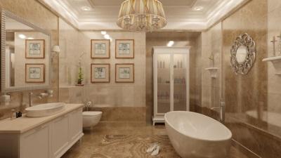 Ванная в стиле класики