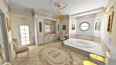 Дизайн ванны в классическом стиле