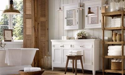 Ванная в стиле прованс - уют и спокойствие