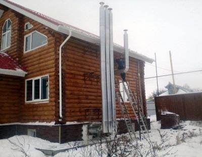 Наружная вентиляция деревянного дома