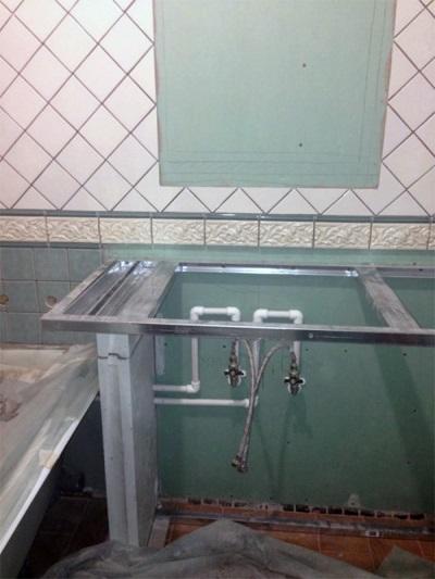 Облицовка гипсокартона плиткой в ванной комнате