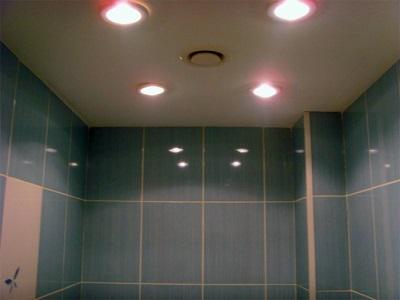 Светильники для потолка в ванной комнате