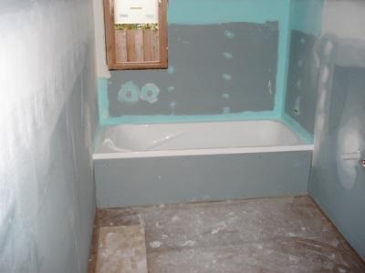 Отделка стен в ванной из гипсокартона