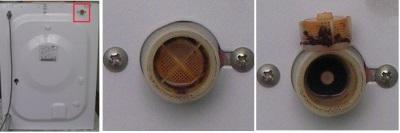 Забитый фильтр входного клапана
