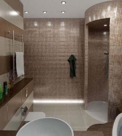 Благородная коричневая ванная