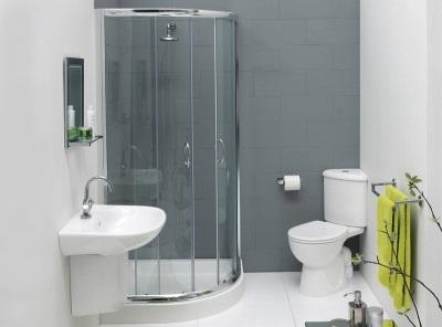 Контрастные стены в ванной комнаты