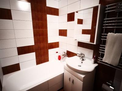 Типовой дизайн ванной комнаты в панельном доме