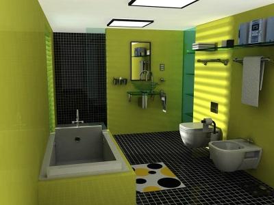 Кафельный пол в ванной комнате