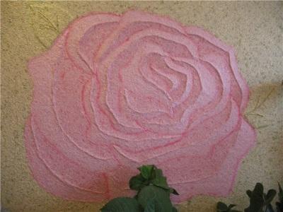 Роза из жидких обоев