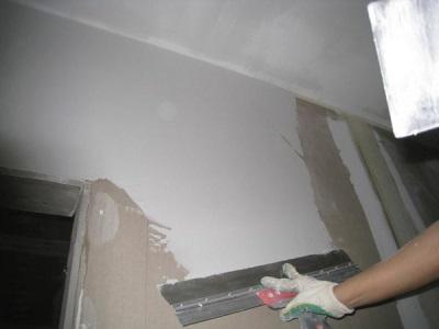 Шпаклевка стен в ванной комнате