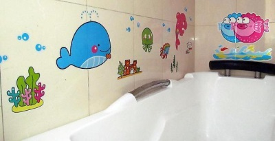 Детские виниловые наклейки для ванной комнаты