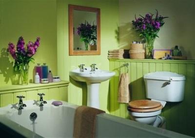 Красота уютной ванной комнаты