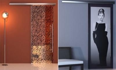Стеклянные декоративные двери для санузлов