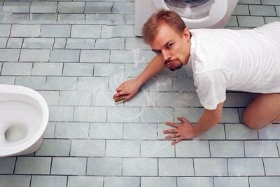 Мытье полов в санузле